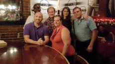 Carolina Film Network's board members. From left: Andrew Gajadhar, Tommy Faircloth, Michael Tolbert, Faith Creech, Morgan Monnig, and Johnny Campbell.